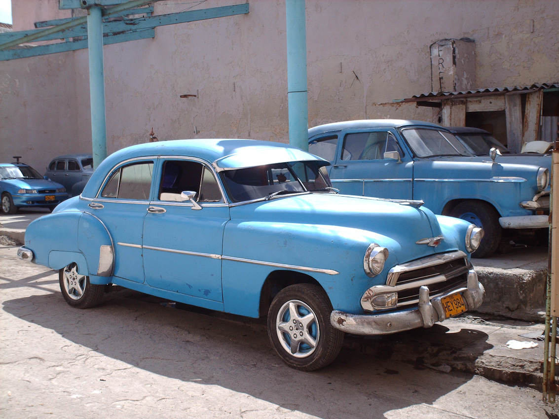 Plenty of old cars