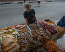 a lot of dried seafood for sale
