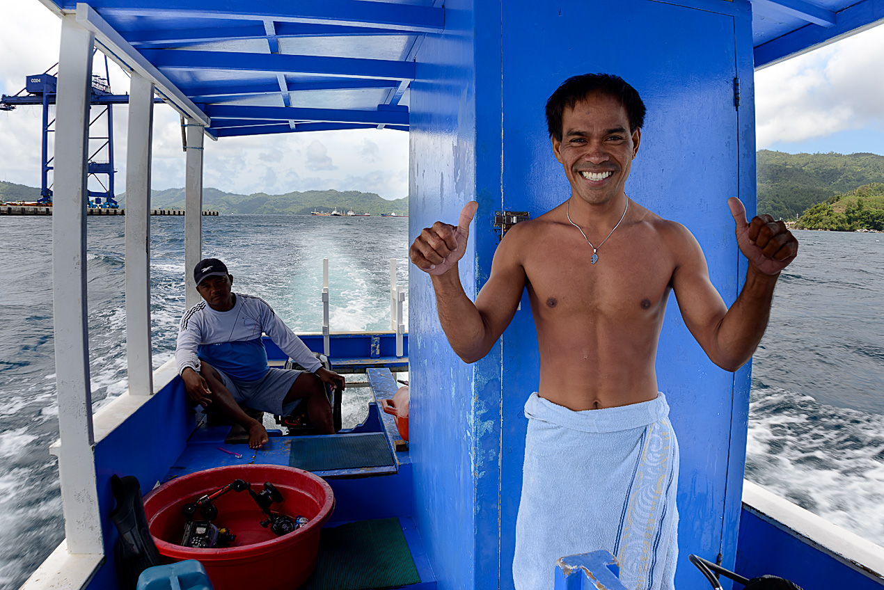 Our dive guide, Atu