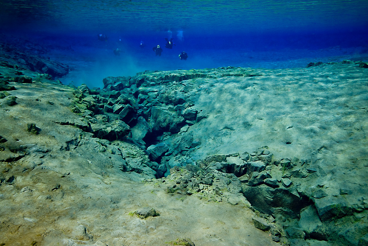 Blå lagunen i Silfrasprickan