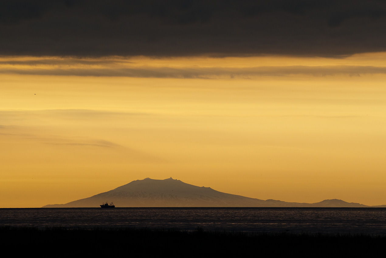 Snæfellsjökull at the horizon