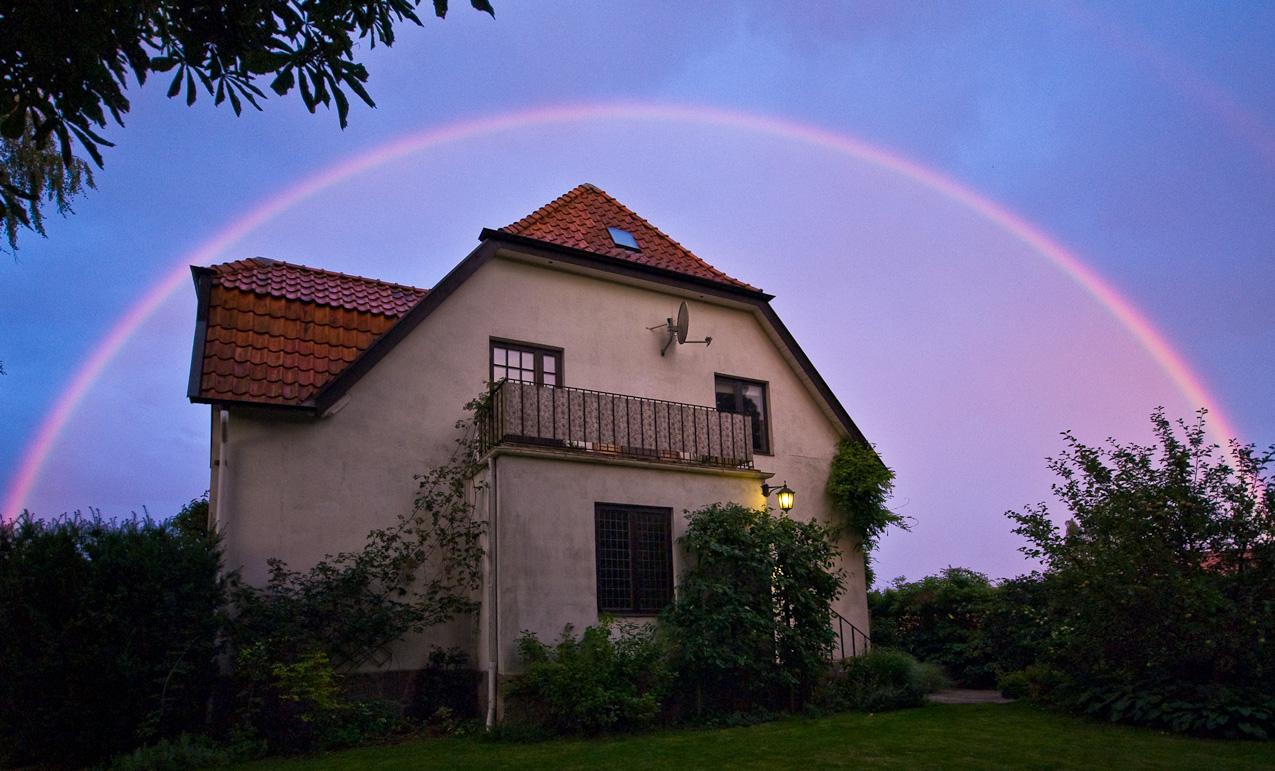August evening rainbow