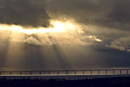 The sky opens up above the Öresund bridge
