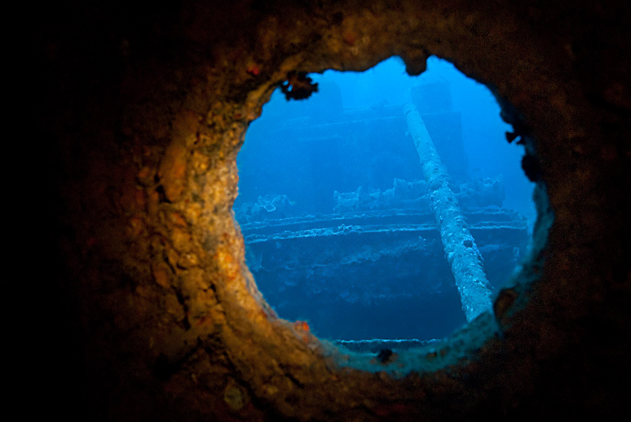view through a porthole