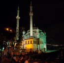 The Mecidiye mosque at the foot of the Bosphorus Bridge